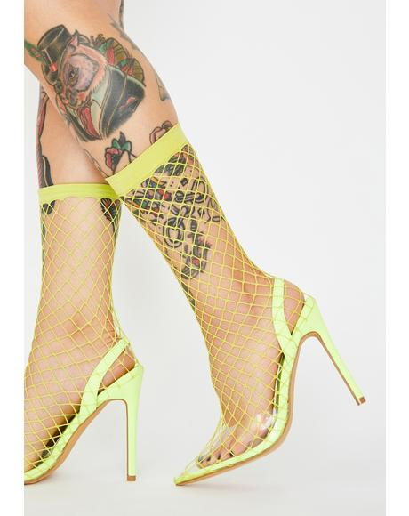Electra The Hott Friend Fishnet Heels