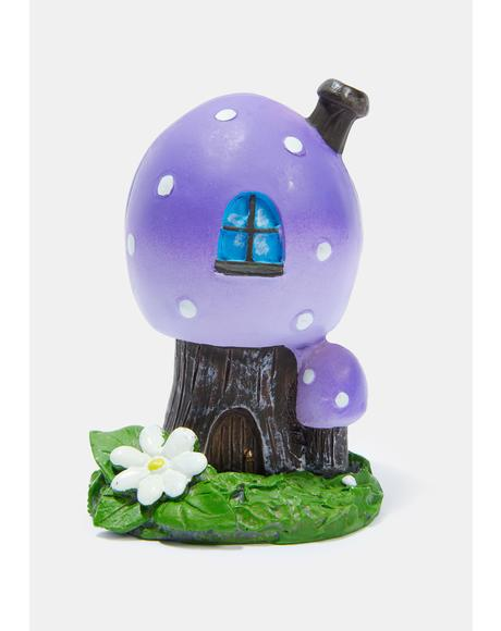 Purple Smoking Toadstool Incense Holder