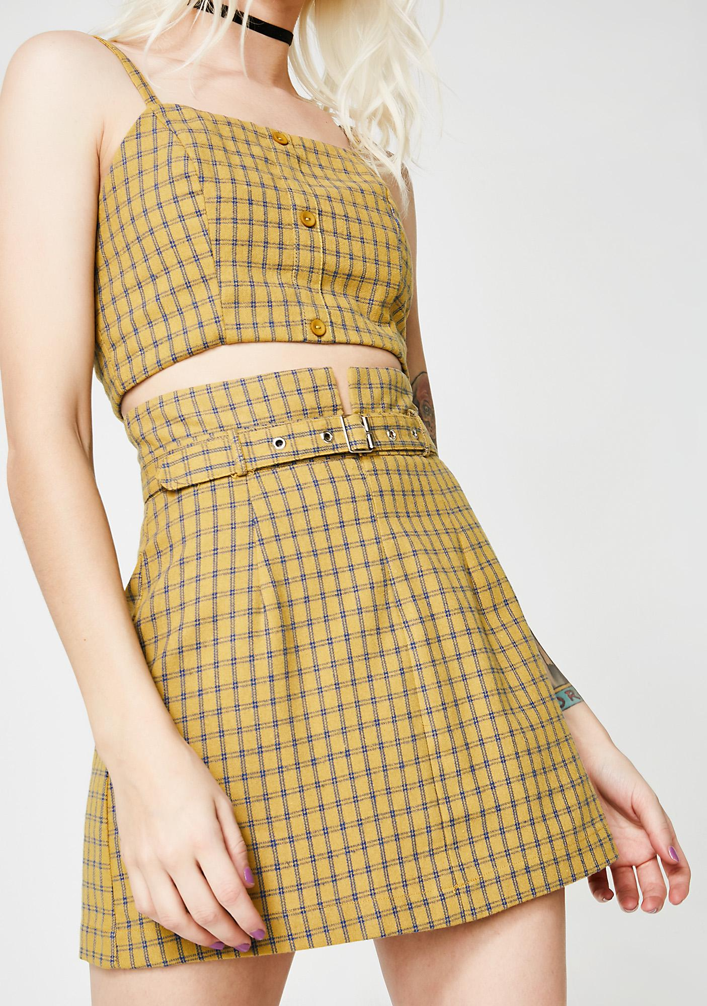 Stay After Class A Line Skirt