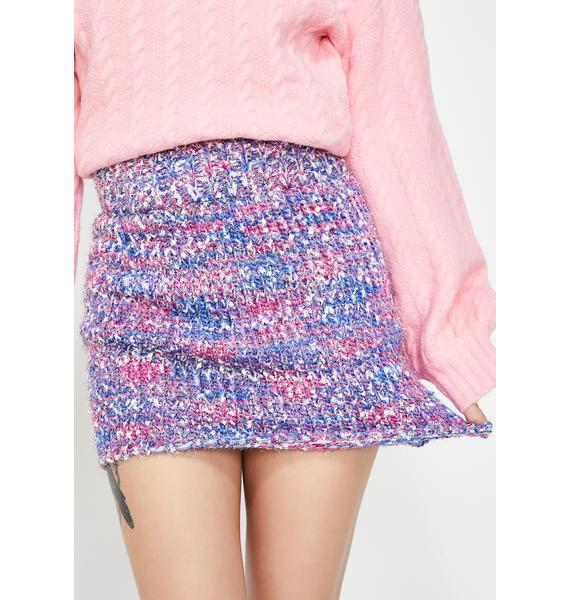 Confetti Cake Sweater Skirt