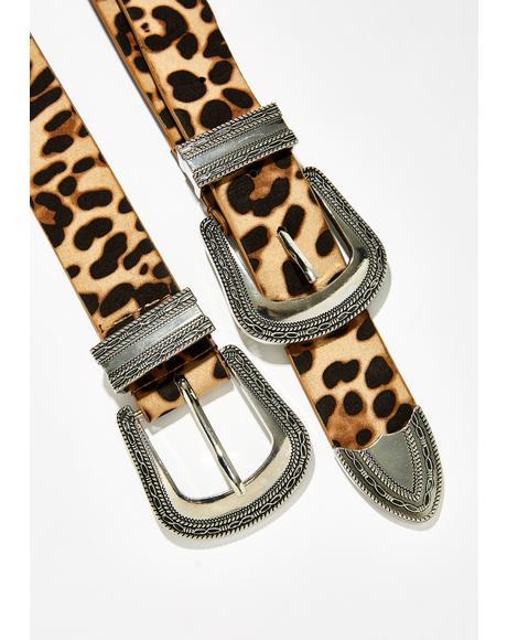 Livin' For Leopard Belt