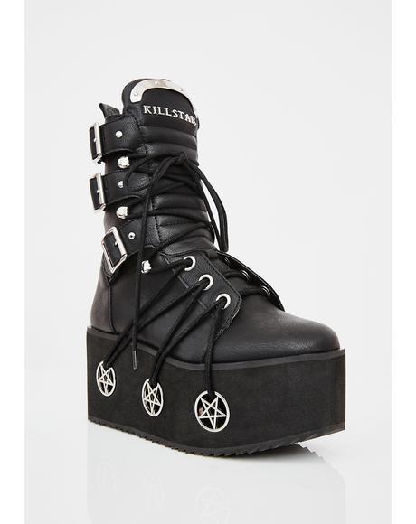 Hell Bound Platform Boots