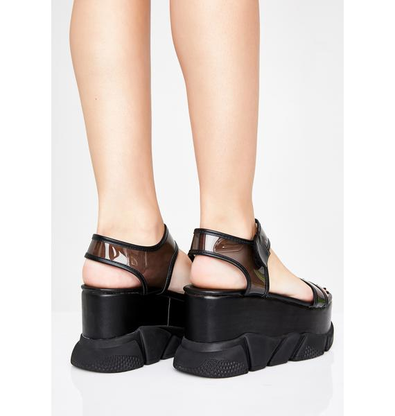 Wicked Superfly Sass Platform Sandals