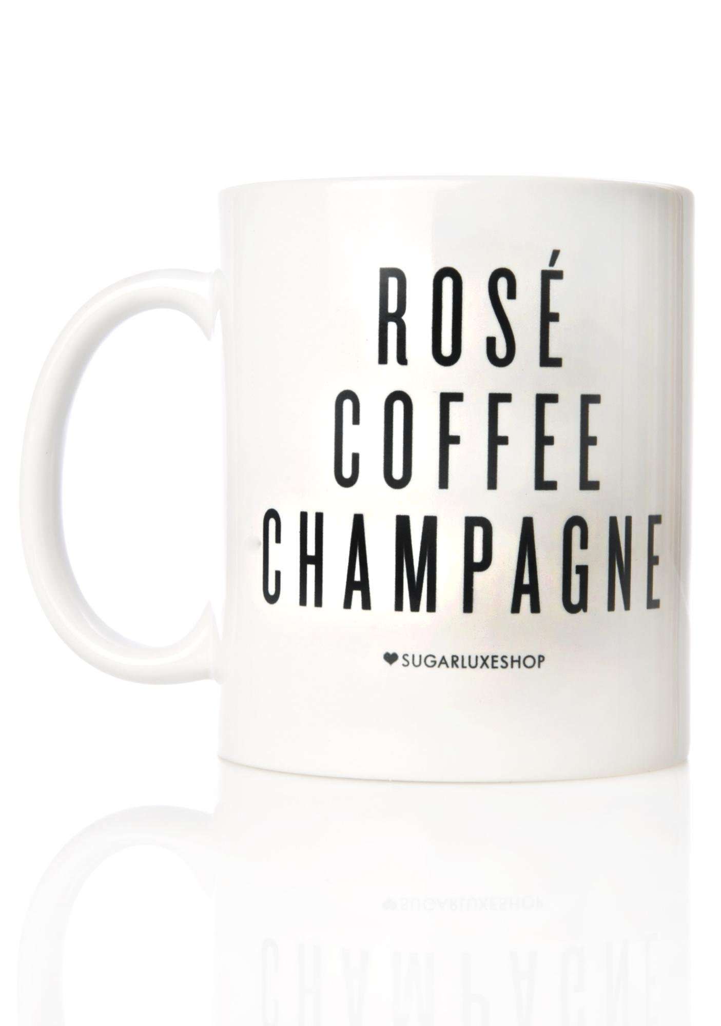 SugarLuxeShop Rosé Coffee Champagne Mug