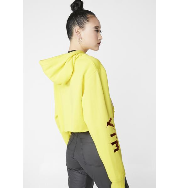 W.I.A Mellow I'm So High Crop Hoodie
