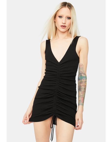 Well Versed Ruched Mini Dress