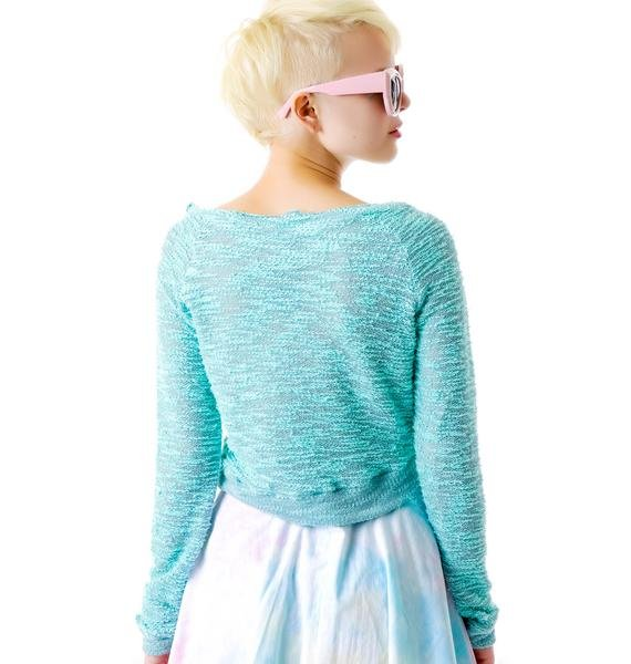 I'm On A Boatneck Cropped Sweater