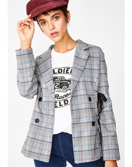 Not Today Plaid Blazer