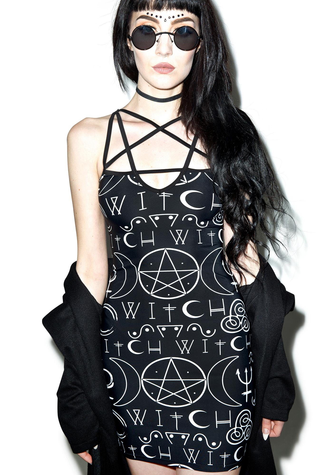 Darkness Prevails Bodycon Dress