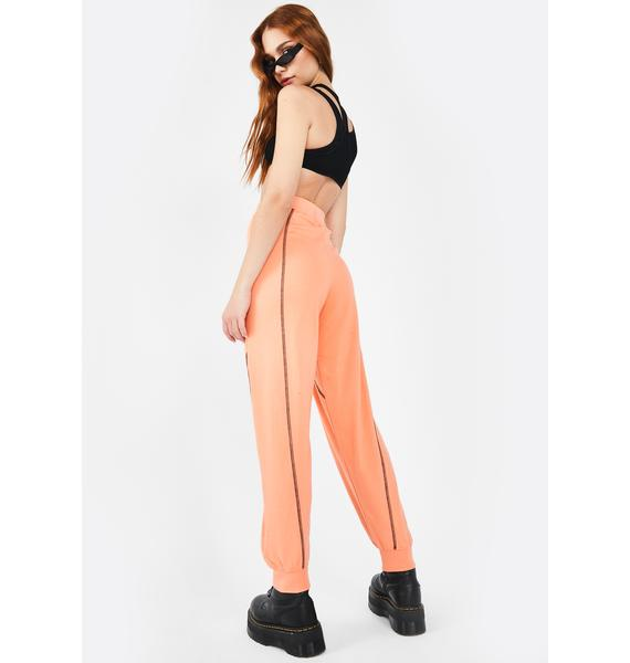 Public Desire Contrast Stitch Jogger Pants