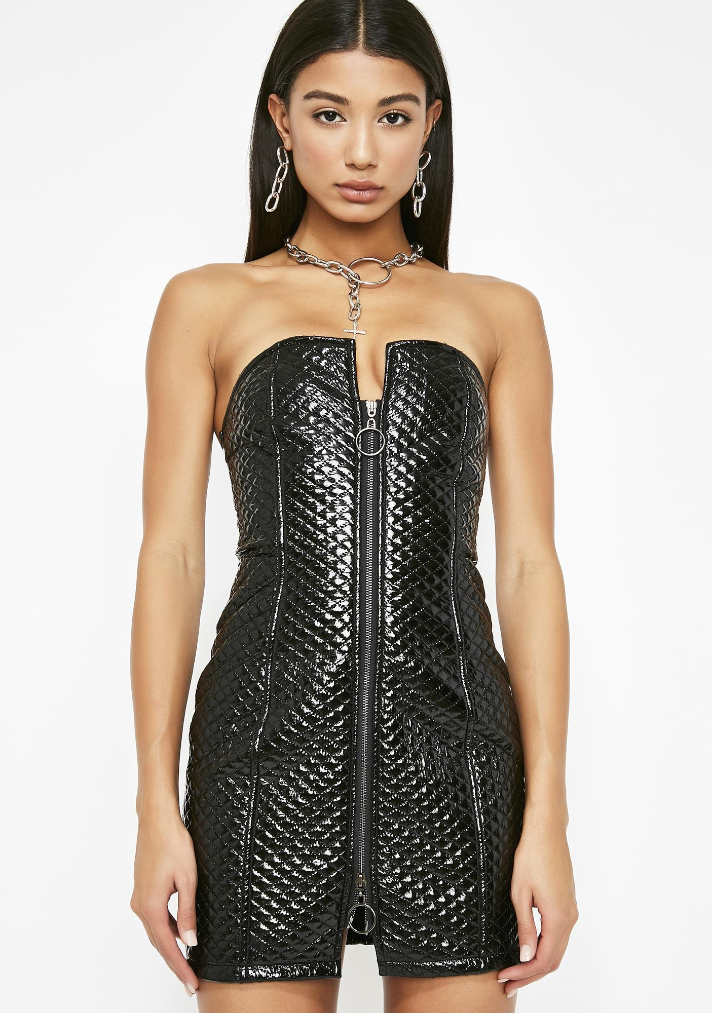 Expensive Habit Quilted Dress