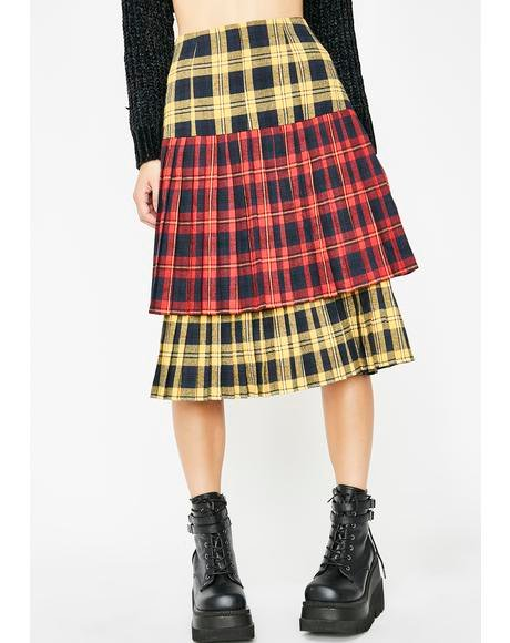 Sunday Skool Plaid Skirt