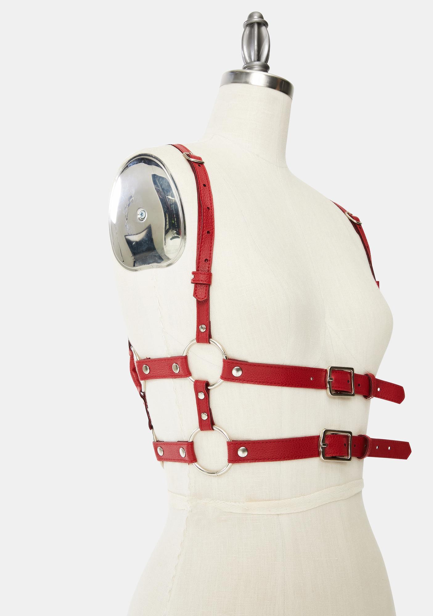 Kiki Riki Red Tight Hold Buckle Harness