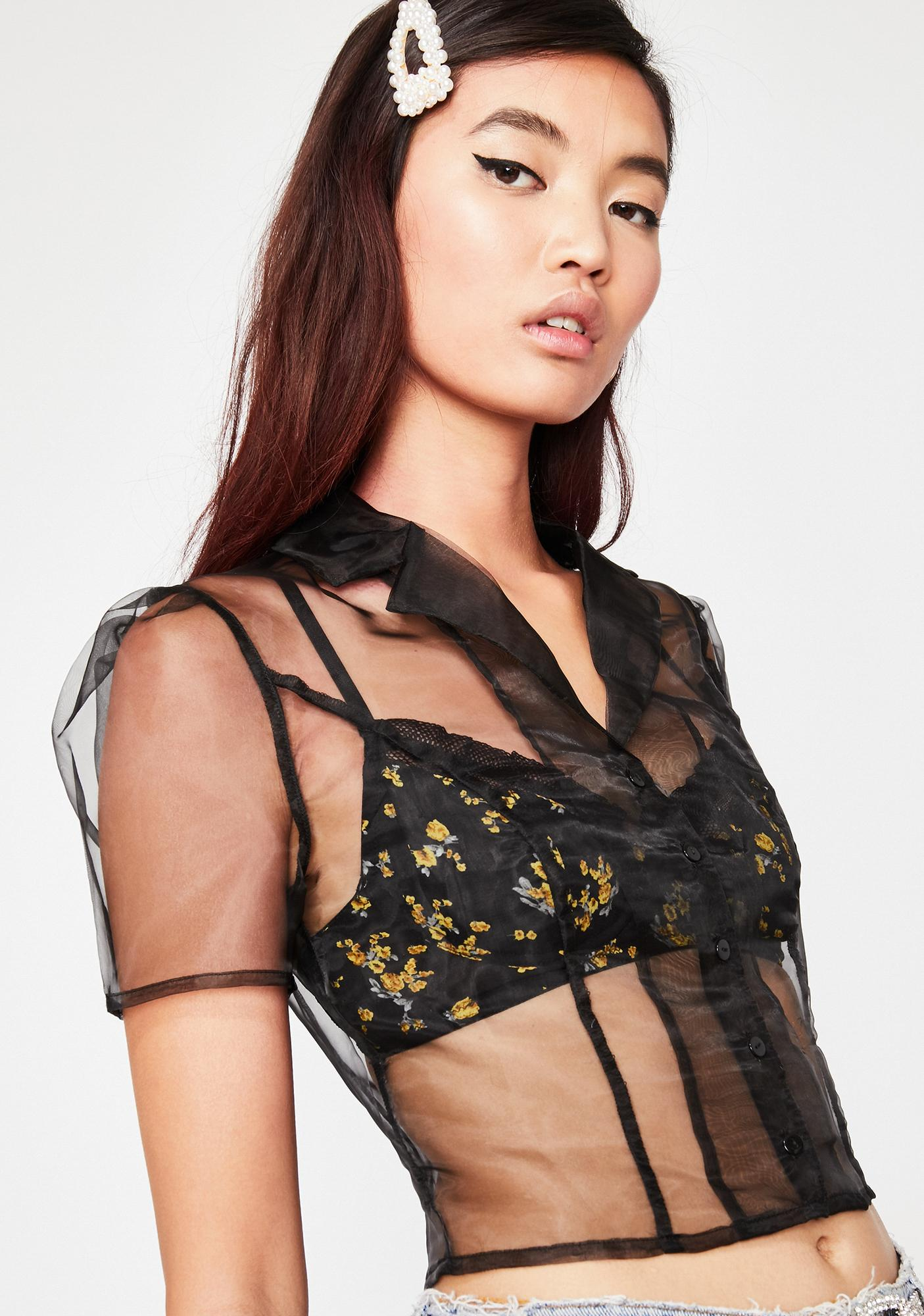 Current Mood Foolproof Sheer Crop Top