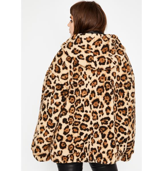 Current Mood Wild Side Faux Fur Jacket