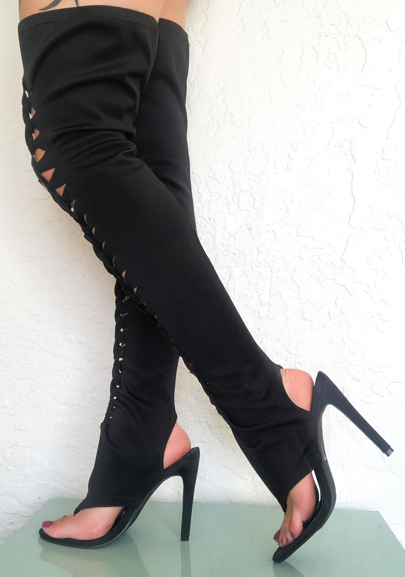 Savage Nights Thigh High Heels