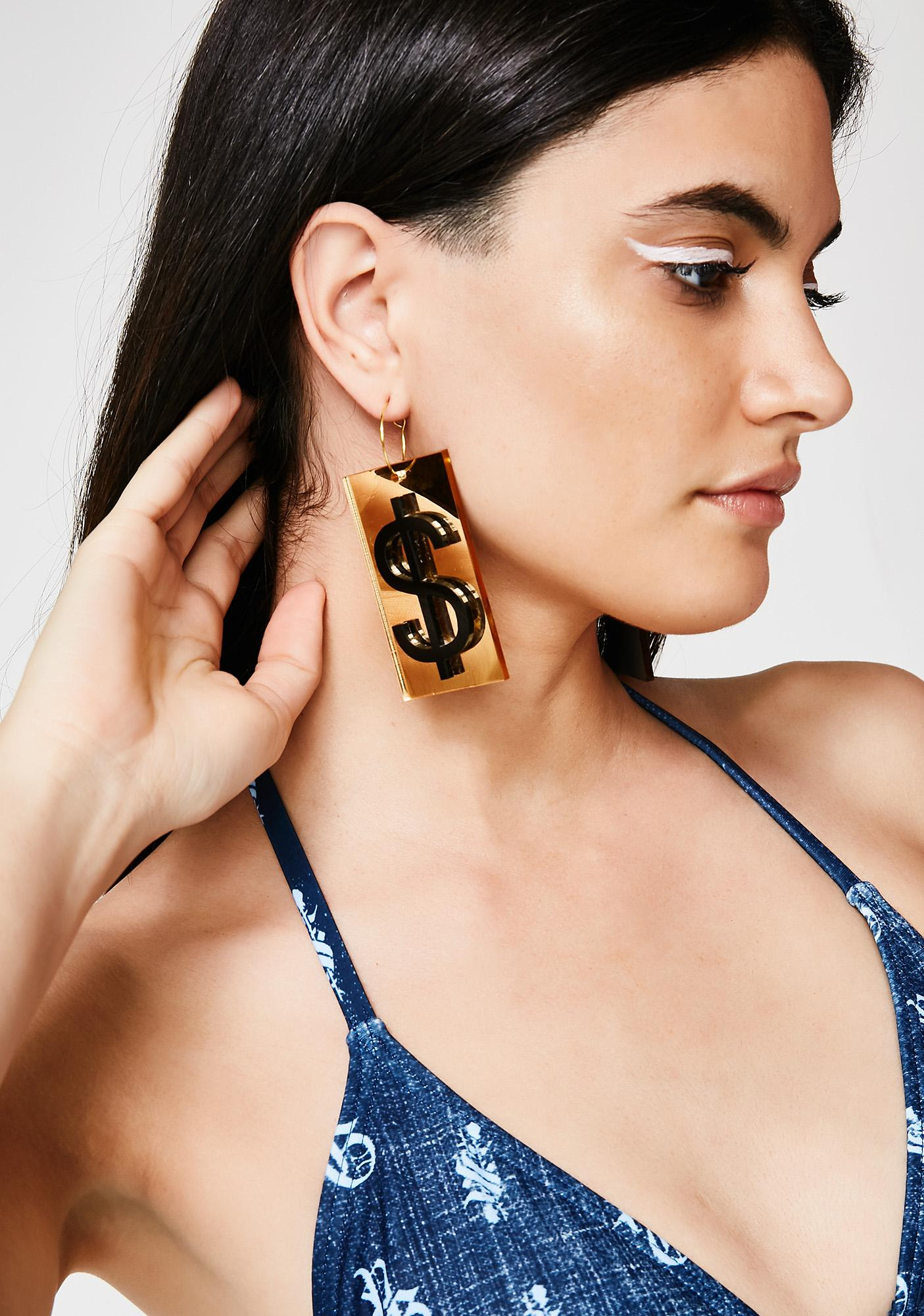 Fille de Joie Dollar Earrings