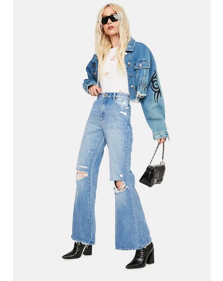 Sofia Worn Eastcoast Flare Jeans