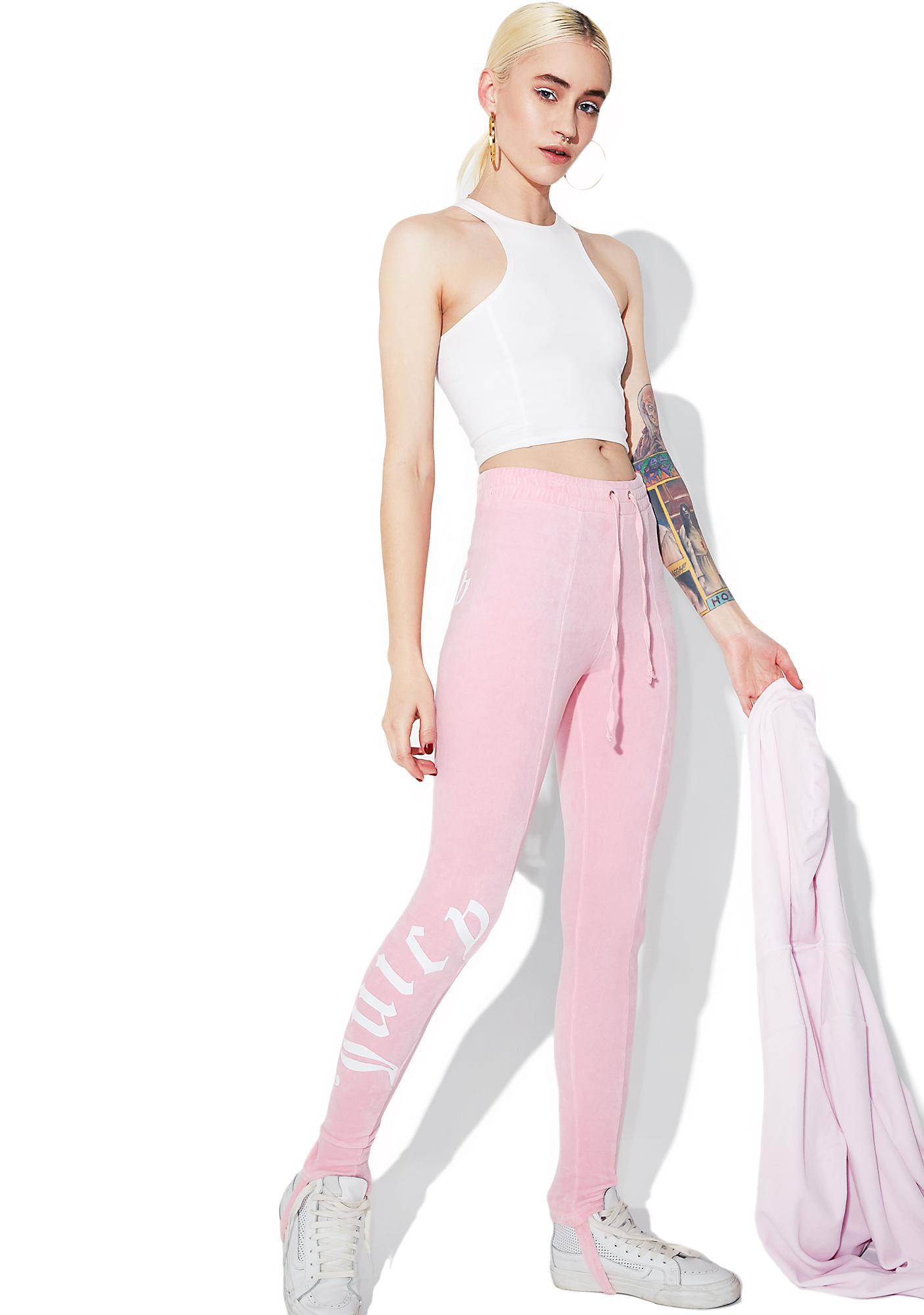 Fantastic JUICY COUTURE Riot Blush Velour Stirrup Leggings | Dolls Kill CU08