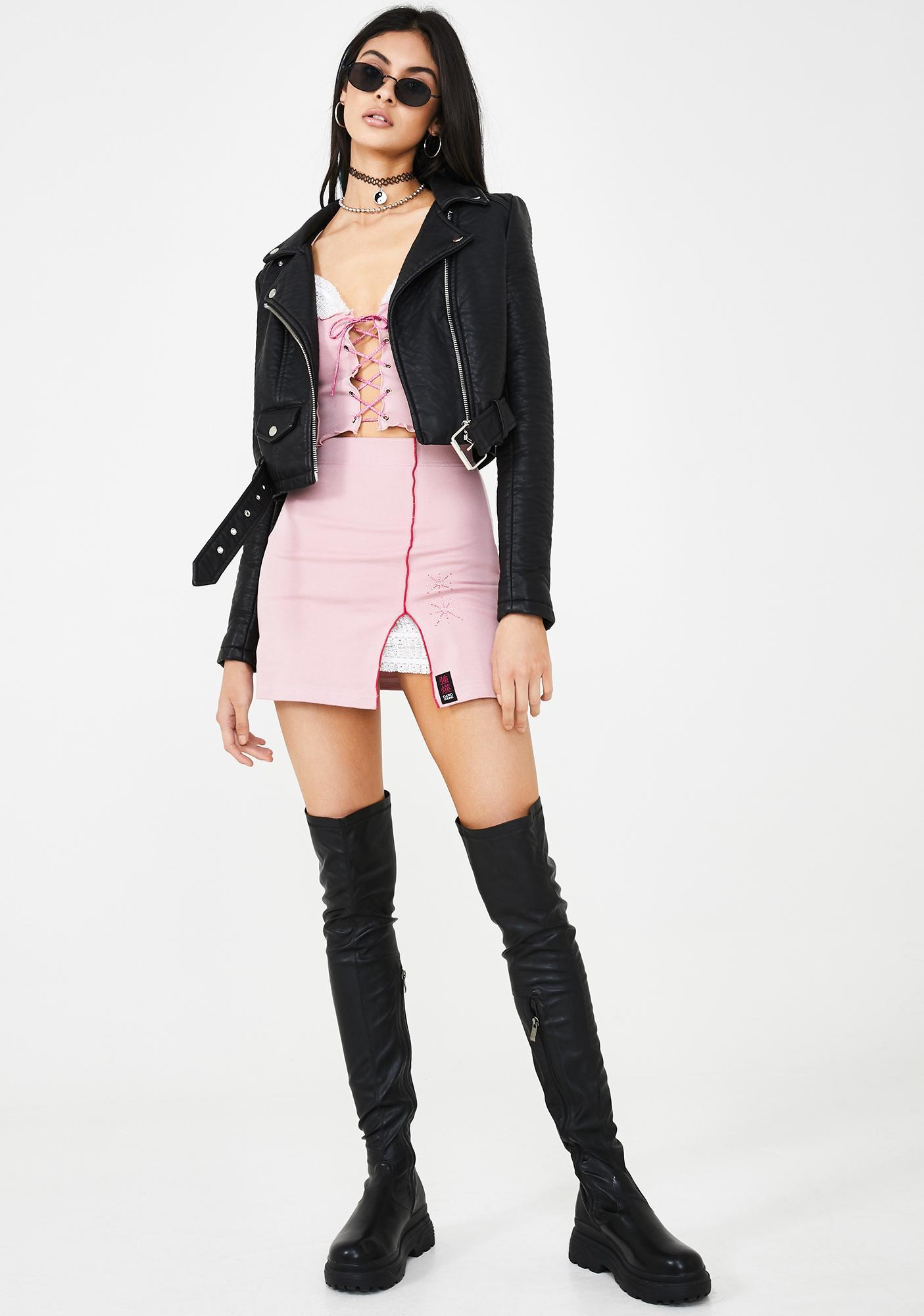 GANGYOUNG Blush Star Set Up Skirt Set