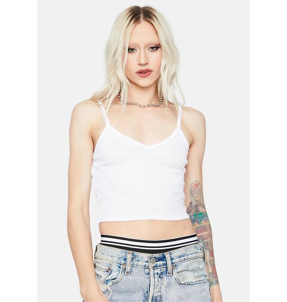 Sparks Fly Ribbed Crop Tank