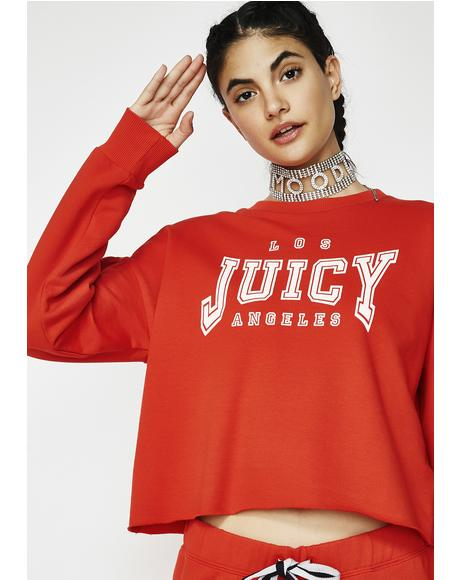 Juicy LA Logo Terry Pullover
