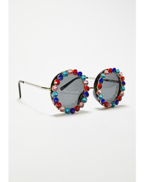 Always Shinin' Rhinestone Sunglasses
