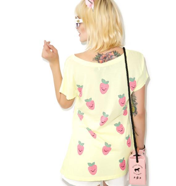 Wildfox Couture Happy Berries Hippie Crew
