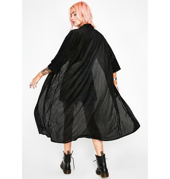 In The Shadows Velvet Kimono