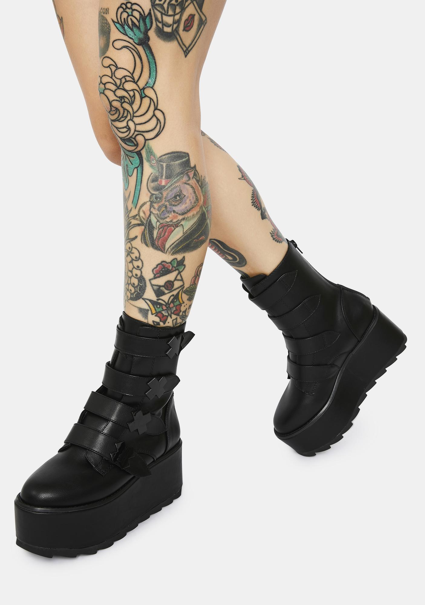 Y.R.U. Karma X Blackout Platform Boots