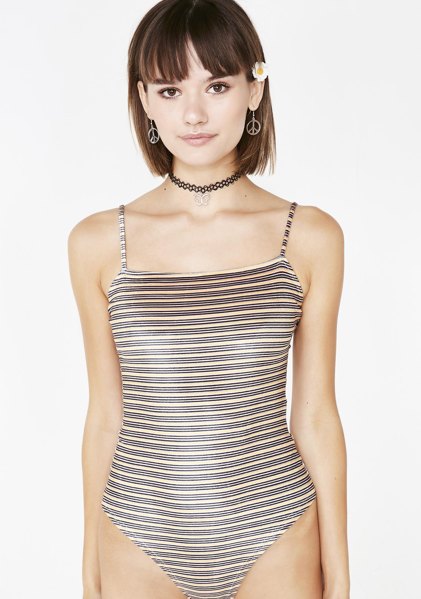 682a225f88 Striped Square Neck Cheeky Bodysuit