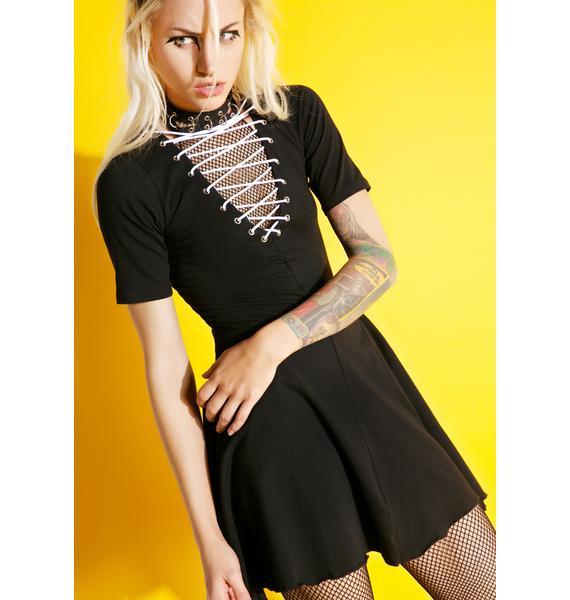 Current Mood Uprising Lace-Up Dress