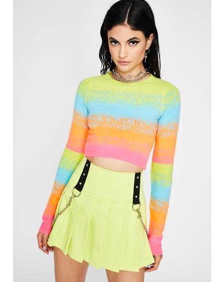 Technicolor Dream Cropped Sweater