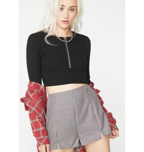 Bad Grl Plaid Shorts