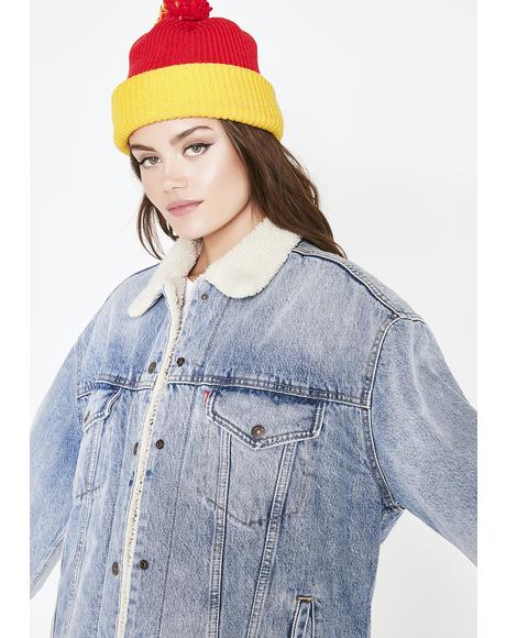 Baggy Sherpa Trucker Jacket