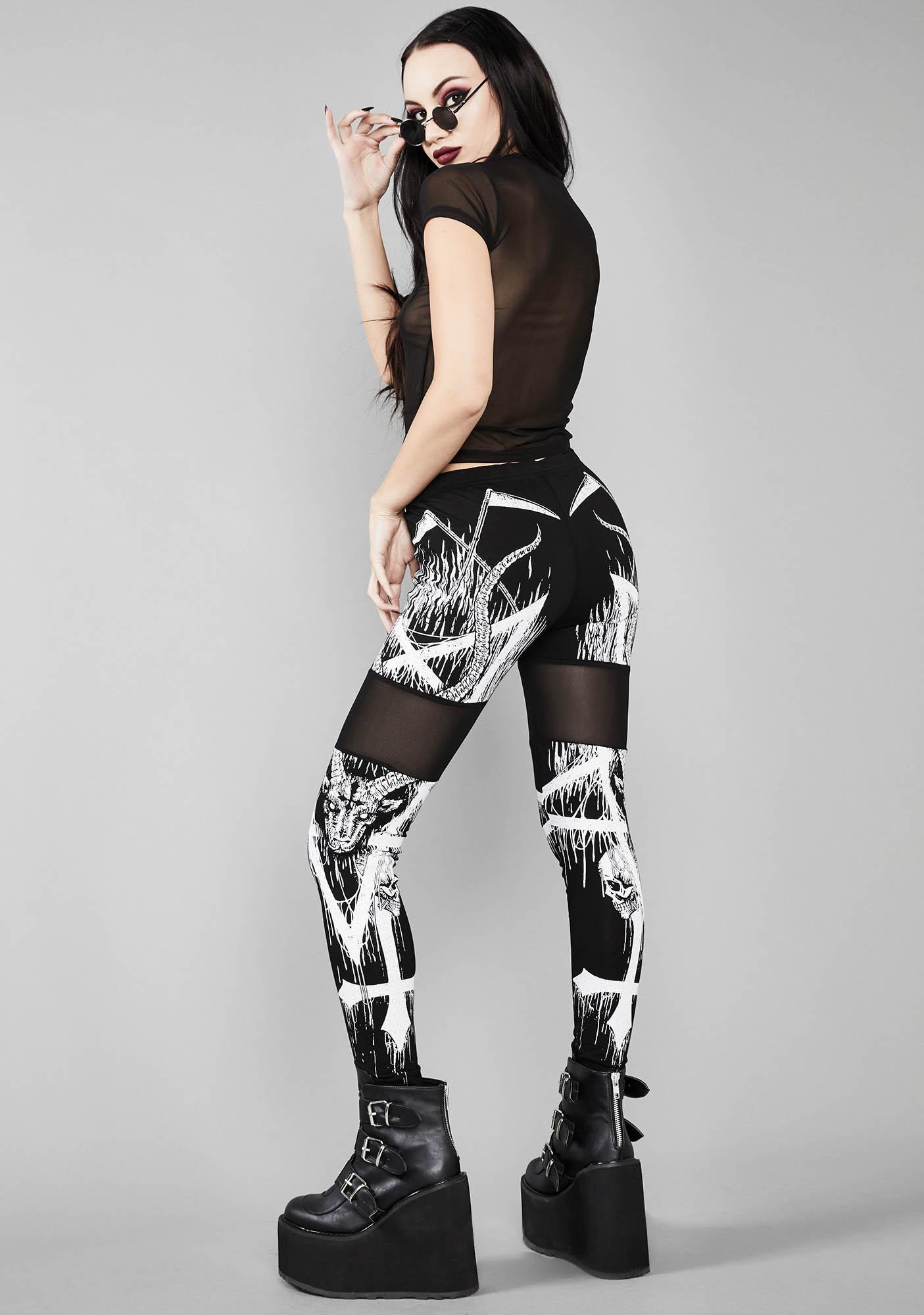 Widow Devil's Abyss Printed Leggings