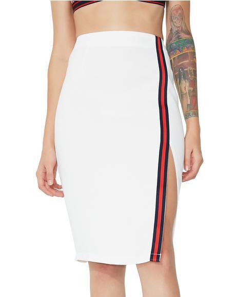 Strike A Pose Midi Skirt