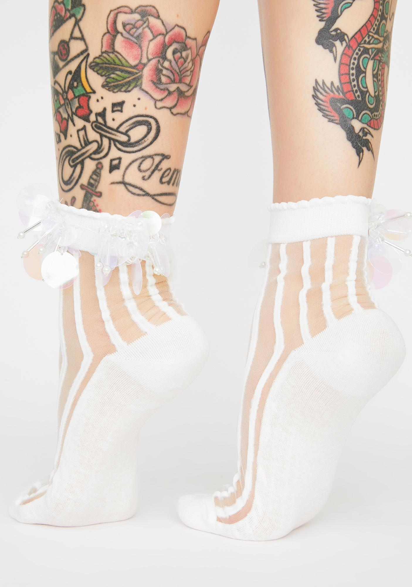 Born For Glitz Striped Socks