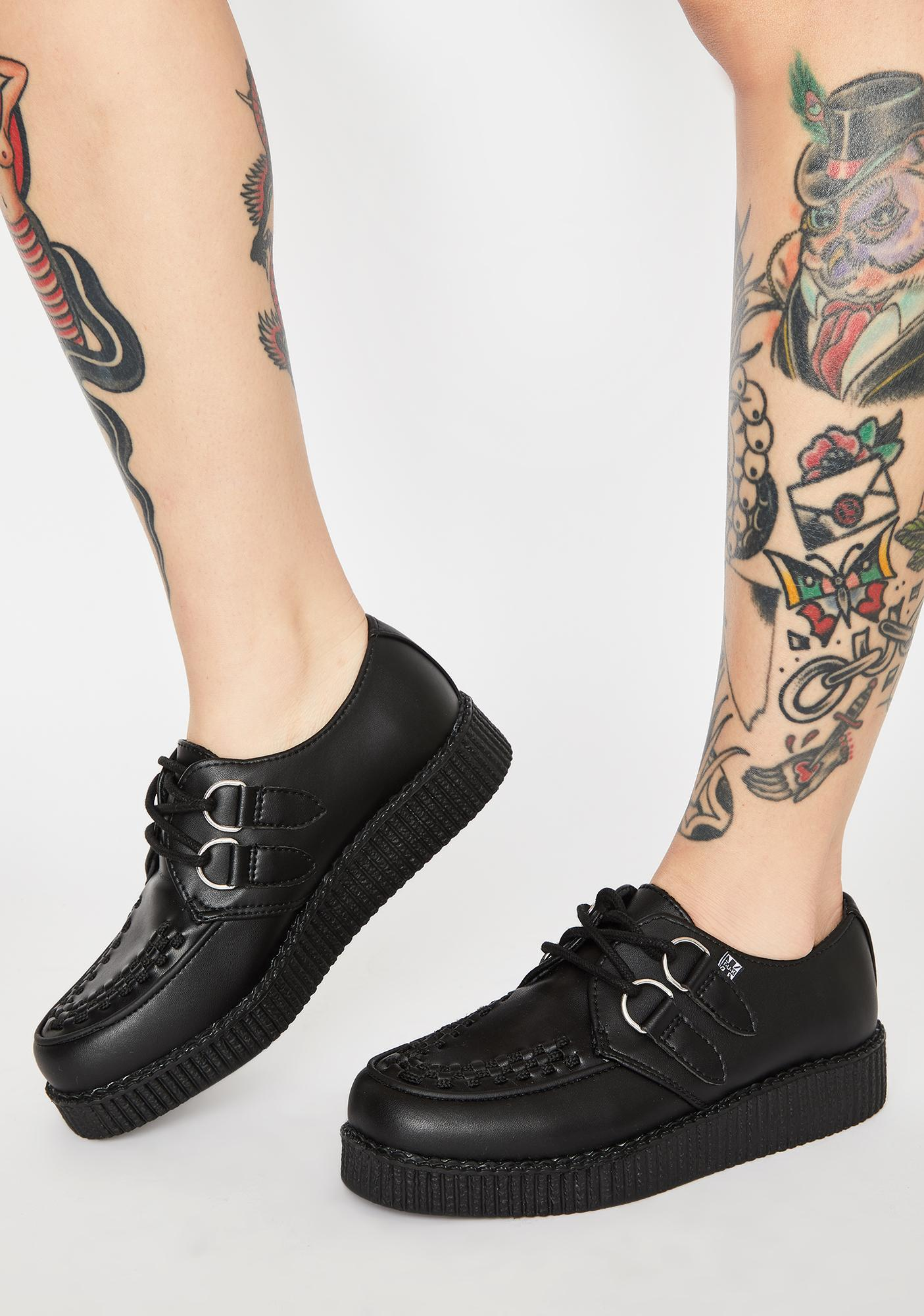 T.U.K. Viva II Low Lace Up Creepers