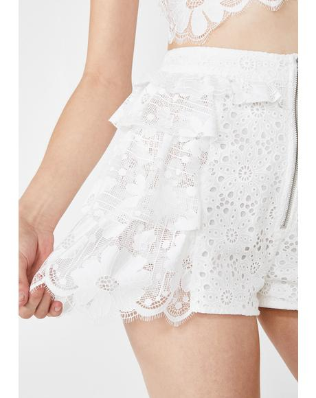 Las Palmas Lace Shorts