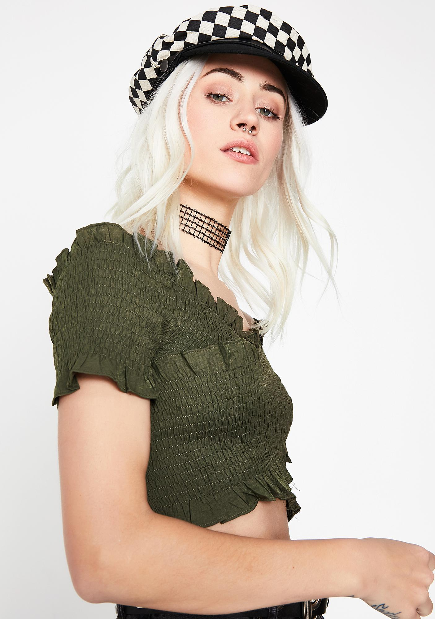 Olive Itz Like That Crop Top