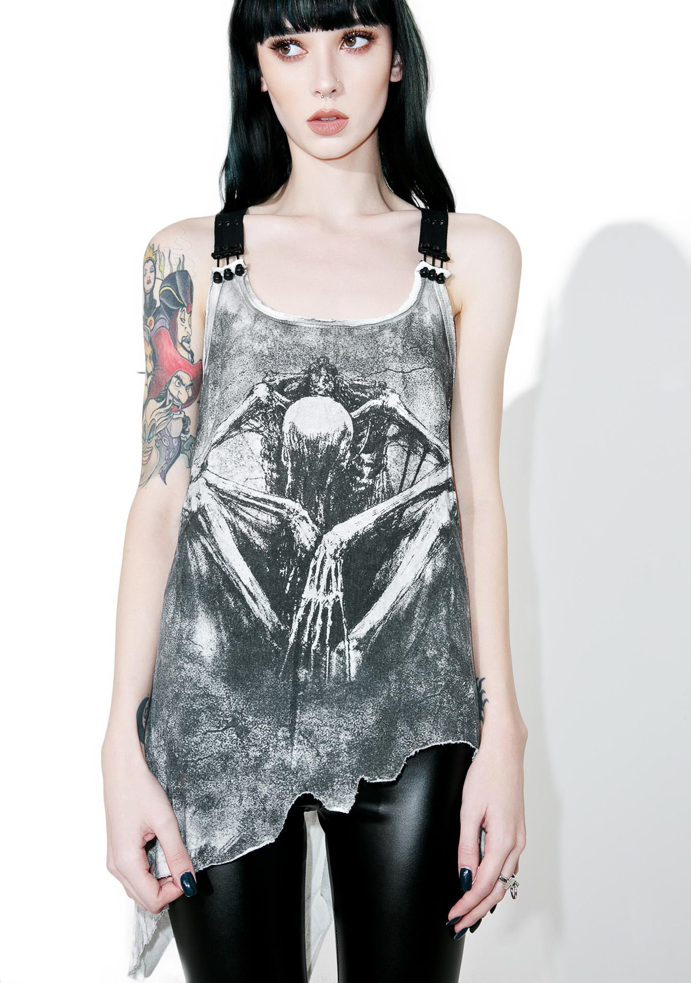 Punk Rave Demon Body Harness Tank