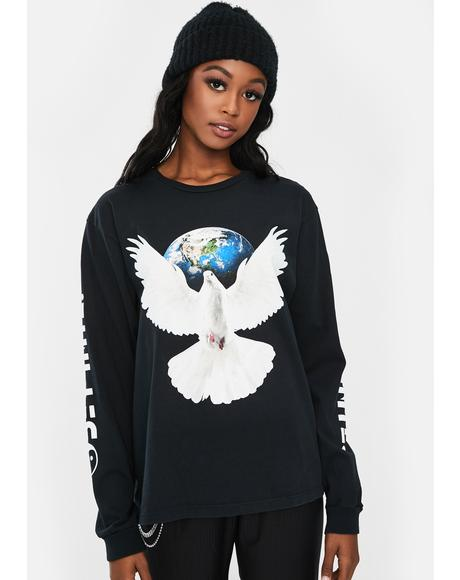 Worldwide Peace Long Sleeve Tee