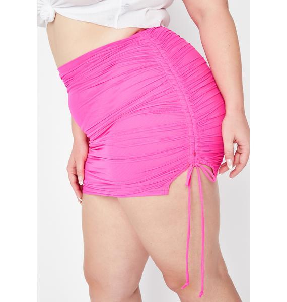 Baby True Got Ur Number Ruched Skirt