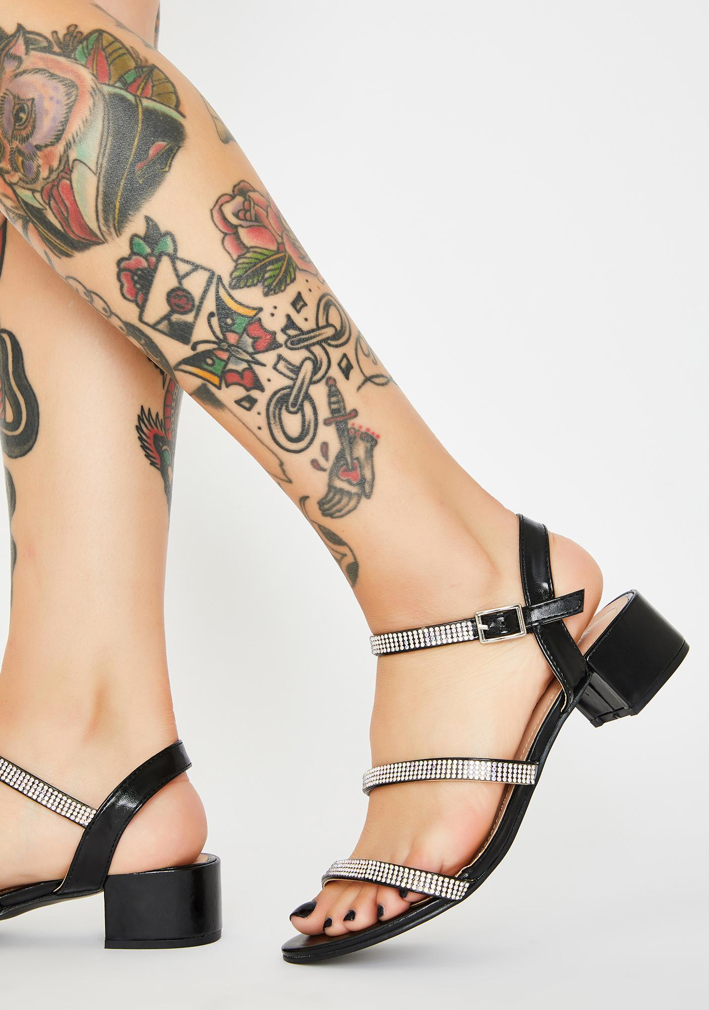 Hey Girlfriend Rhinestone Sandals