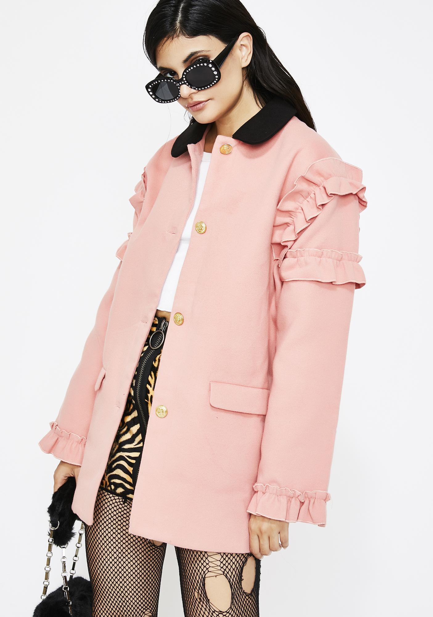 Cute But Psycho Ruffle Coat