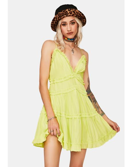Kiwi Ruffle Me Up Mini Dress