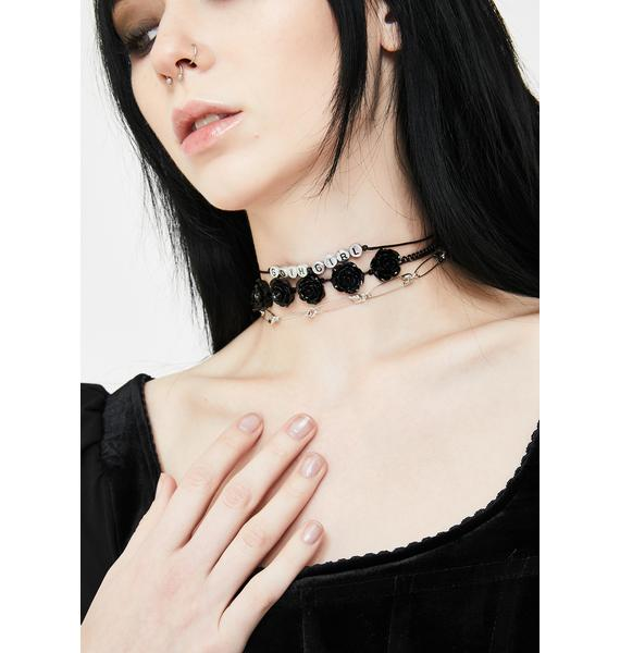 Goth Girlfriend Choker Set