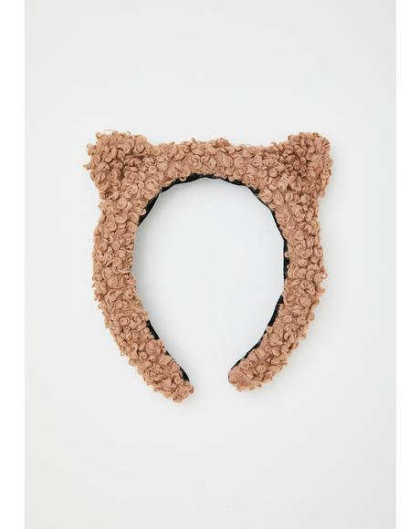 Teddy Time Fuzzy Headband