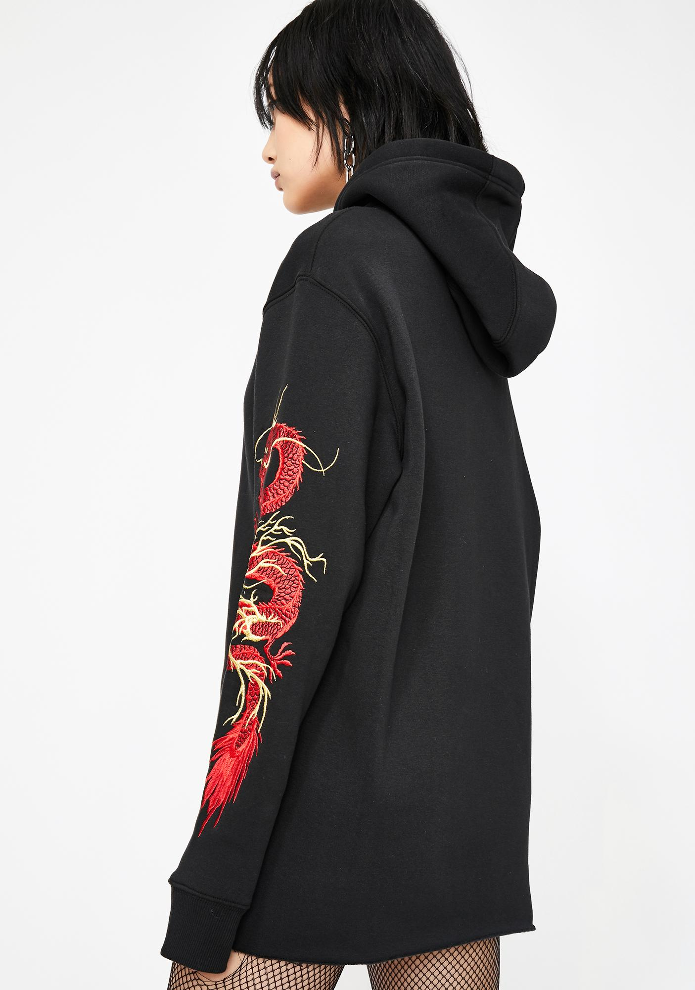 Current Mood Mystic Flame Dragon Hoodie